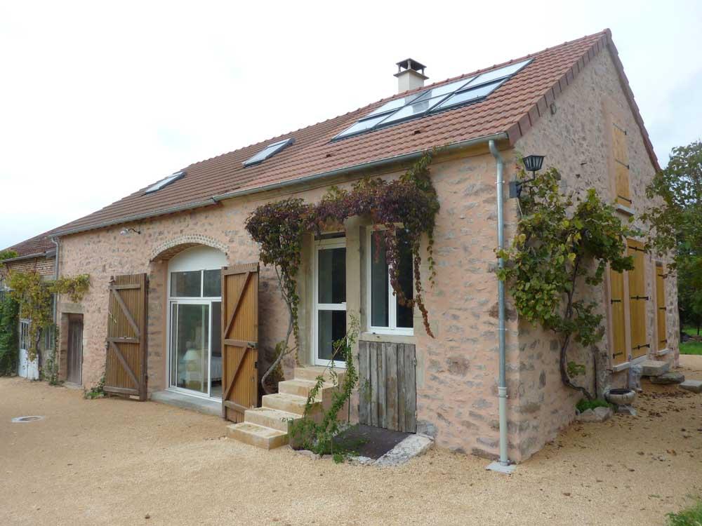 Maison rénovée, Avallon - ATRIA Architectes à Auxerre, Bourgogne