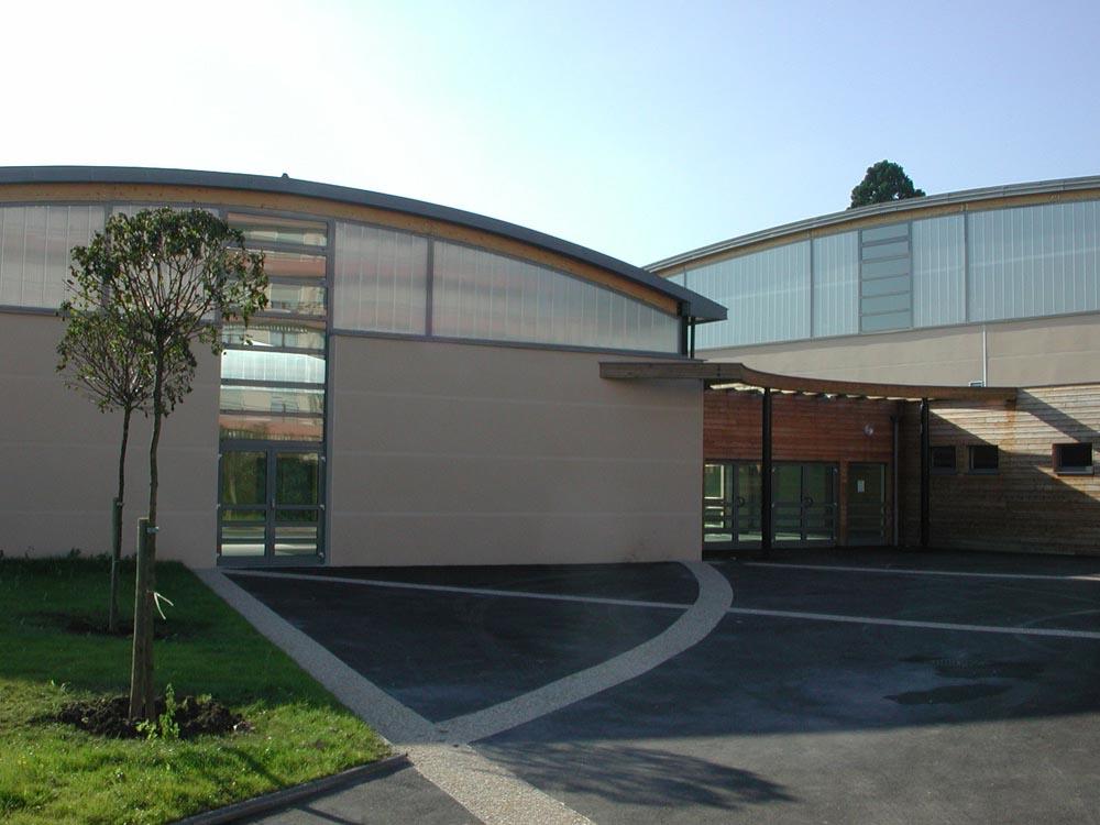 Gymnase des Collèges Montpezat-Mallarmé, Sens - ATRIA Architectes à Auxerre, Bourgogne