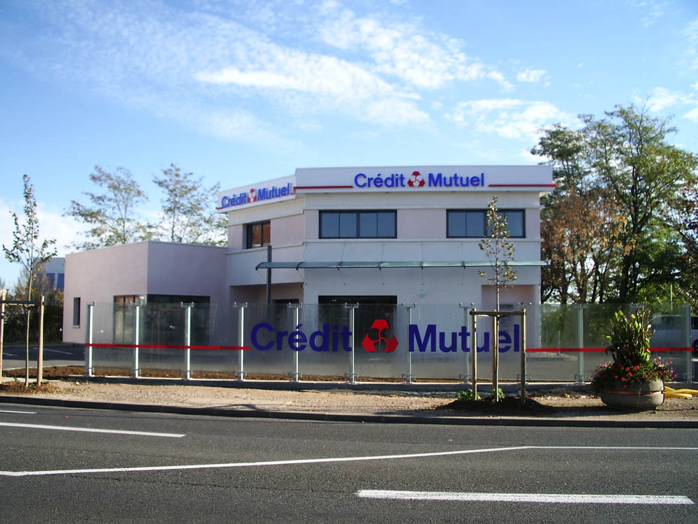 Caisse du Crédit Mutuel, Auxerre - ATRIA Architectes à Auxerre, Bourgogne